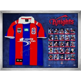 Andrew Johns signed Newcastle Knights Jersey image full view