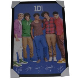 One Direction signed photo framed memorabilia image full view