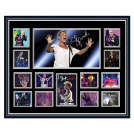 Pink Signed Photo Framed image full view