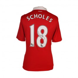 Paul Scholes signed Manchester United jersey image full view