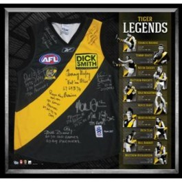 Richmond Tigers signed Legends jersey image full view