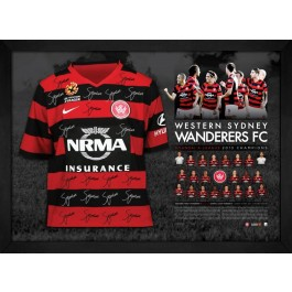 Western Sydney Wanderers signed 2014 jersey MOCK UP ONLY IMAGE