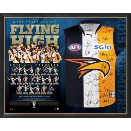 West Coast Eagles 2015 Signed Jersey Guernsey image