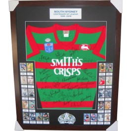 South Sydney Rabbitohs Legends signed jersey FRAMED