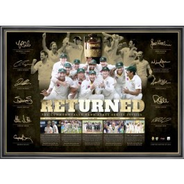 Ashes Returned 2014 Signed Poster