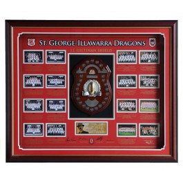 St George Dragons JJ Giltinan shield-FRAMED authentic Image Full View