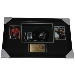 Mike Tyson signed Boxing Glove framed IMAGE FULL VIEW