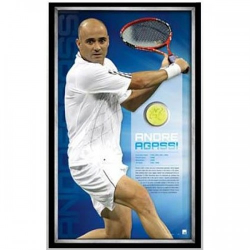 46b8706e8cf5df Andre Agassi Signed Tennis Ball image full view