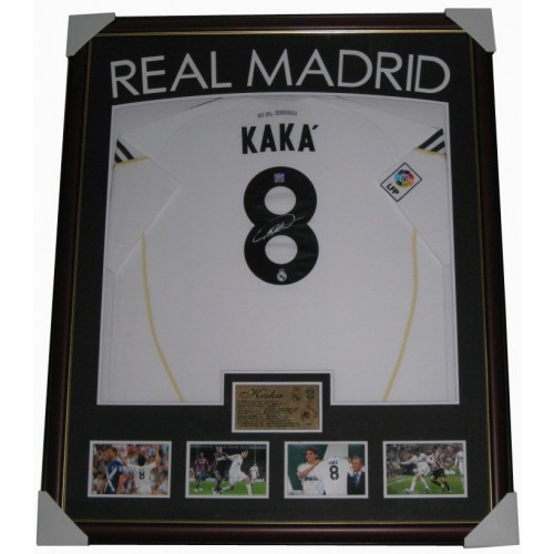 ef3364cb0 Kaka signed Real Madrid jersey FRAMED authentic Image Full View