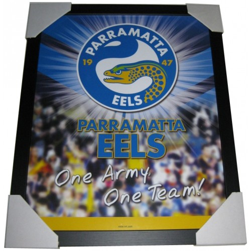 Parramatta Eels Framed Photos Print Poster Limited Edition: Parramatta Eels Club Badge Poster Framed