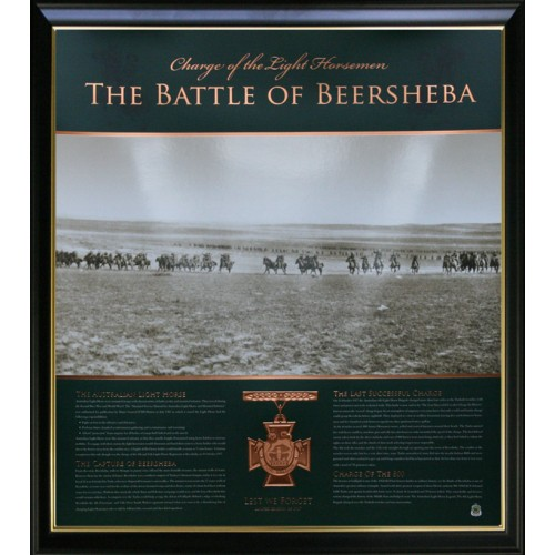 Parramatta Eels Framed Photos Print Poster Limited Edition: THE BATTLE OF BEERSHEBA PHOTO PRINT FRAMED MEMORABILIA