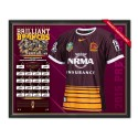 Brisbane Broncos 2015 Signed Jersey FRAMED