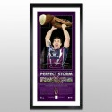 Billy Slater signed Premiership Lithograph 2012