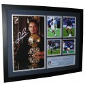 Roberto Baggio Autographed Photo Framed