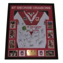 St George Dragons Squad signed jersey 2010 FRAMED