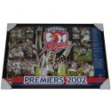 Sydney Roosters 2002 PREMIERS poster framed