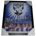 Bulldogs Club badge poster framed
