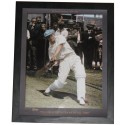 Donald Bradman signed photo Framed Memorabilia