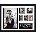 Johnny Cash signed photo framed