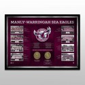 Manly Sea Eagles Historical Series Print Framed