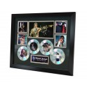 Michael Jackson 4 Cd Memorabilia Framed