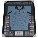 NSW BLUES LEGENDS JERSEY FRAMED STATE OF ORIGIN