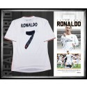 Cristiano Ronaldo signed Real Madrid jersey FRAMED