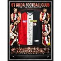 St Kilda Saints Signed jersey framed