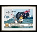 Tom Slingsby Signed Photo Sailing GOLD