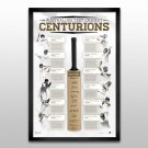 Cricket - The Centurions - Signed & Framed Deluxe Bat