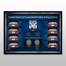 Canterbury Bulldogs Historical Series Print Framed