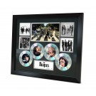 The Beatles 4 Cd Memorabilia Framed