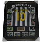 Alessandro Del Piero signed Juventus jersey framed image full view