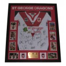 St George Dragons Squad signed jersey 2010 FRAMED image