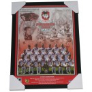 St George Dragons 2010 PREMIERS squad poster framed
