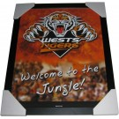 Wests Tigers Club badge poster framed