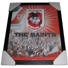 St George Dragons Club badge poster framed