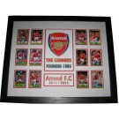 Arsenal FC logo & cards Poster Framed 2010-2011