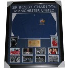 Bobby Charlton Signed Manchester United 1968 European Cup Final Jersey Framed authentic Image Full View