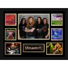 MegaDeath Signed Photo framed memorabilia