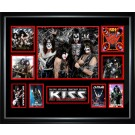 Kiss Signed Photo framed memorabilia image full view