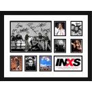 INXS signed photo framed memorabilia image