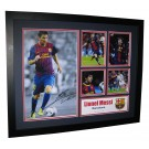 Lionel Messi signed Memorabilia Limited Edition Framed image full view
