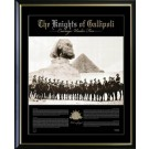 KNIGHTS OF GALLIPOLI ANZAC PRINT PHOTO FRAMED