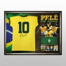 Pele signed Brazil Shirt Limited Edition FRAMED