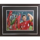 Steven Gerrard hand signed Liverpool photo 2005 image
