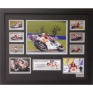 Marco Simoncelli signed photo Framed Memorabilia image