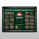 South Sydney Rabbitohs Historical Series Print Framed