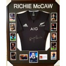 Richie McCaw signed New Zealand All Blacks jersey image full view