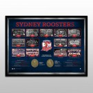 Sydney Roosters Historical Series Print Framed
